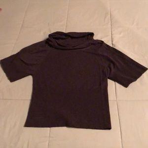 Short sleeved cowl neck